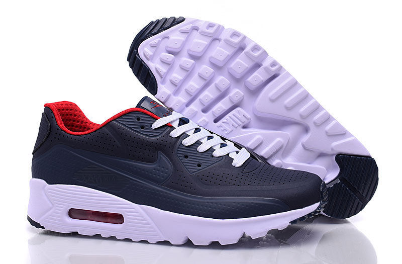 0775f517f2 Nike Air Max 90 Ultra Moire Navy Blue Black Red White Men's Running ...