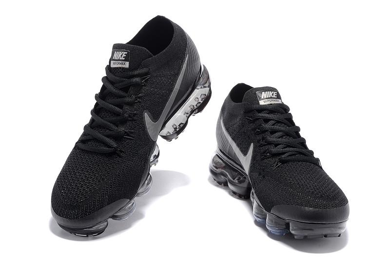 huge discount 7b7bb face0 Nike Air VaporMax Flyknit 2018 Black Men's Running Shoes 849558-001
