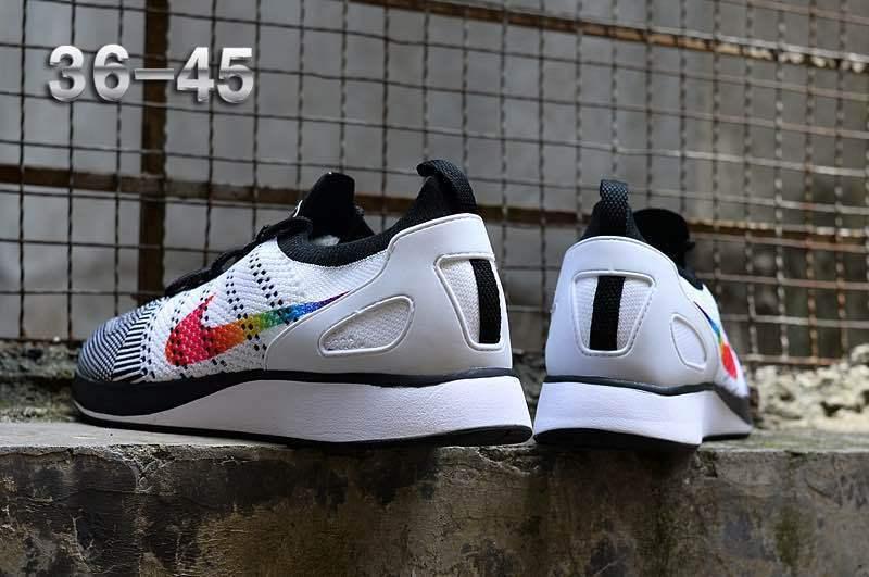 68984c80d56e4 Nike Air Zoom Mariah Flyknit Racer Black White Multi-Color Women s Men s  Running Shoes