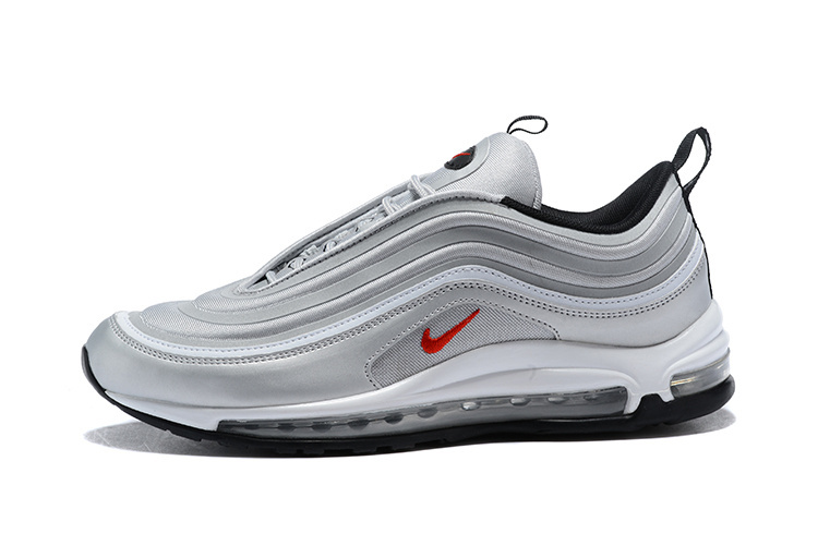 more photos 8fe68 f852f Nike Air Max 97 Ultra 17 Se Silver Bullet Red Mens Running Shoes