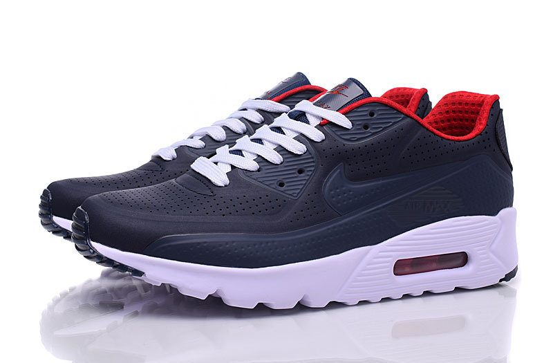 best website 886b9 ab474 Nike Air Max 90 Ultra Moire Navy Blue Black Red White Mens Running Shoes  Sneakers