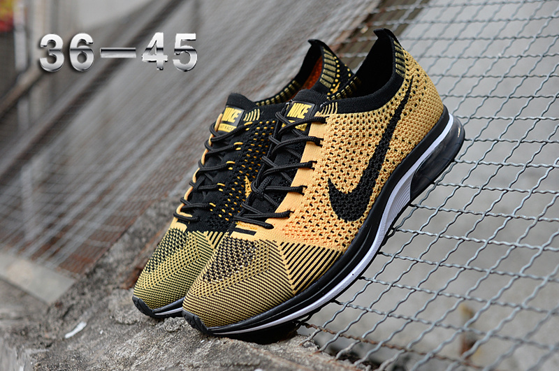 hot sale online 92ece cb5e6 order gold yellow mens nike flyknit racer shoes b5fb4 20310
