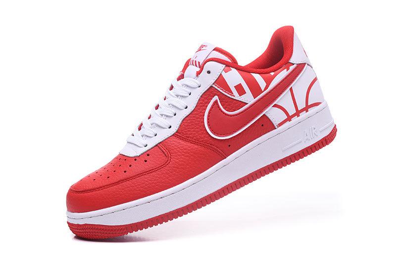 c7ca67ca2ebe8b Nike Air Force 1 07 LV8 University Red White University Red Men s Women s  Running Shoes Sneakers