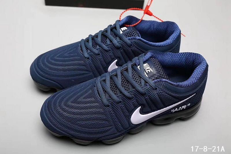 buy online 710df 962a5 Nike Air Vapormax Flyknit Kpu Navy Blue White Men s Running Shoes