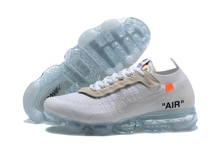 buy online 4df1e b3eaa OFF-WHITE x Nike Air VaporMax Flyknit White Orange Black AA3831 100 Women's  Men's Running Shoes AA3831-100