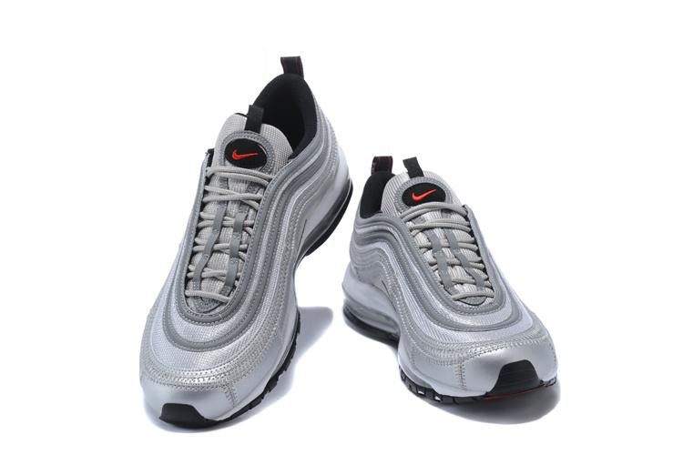 Nike Air Max 97 3M Metallic Silver Varsity Red White Women's Men's Running Shoes NIKE ST000665