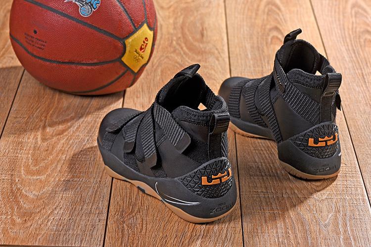 3951280bff8c Nike LeBron Soldier 11 XI Black White Gum Sole Men s Basketball Shoes