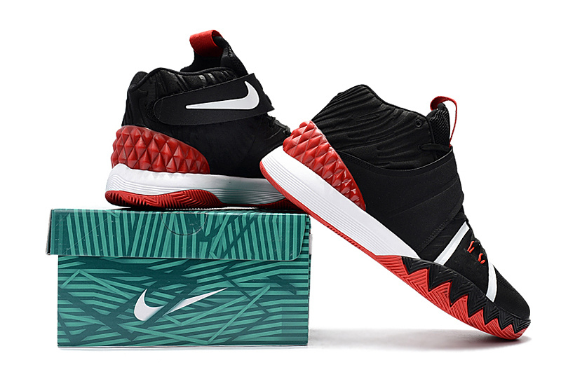 huge selection of 783e7 42696 Nike Kyrie S1 Hybrid Black White Red Mens Basketball Shoes