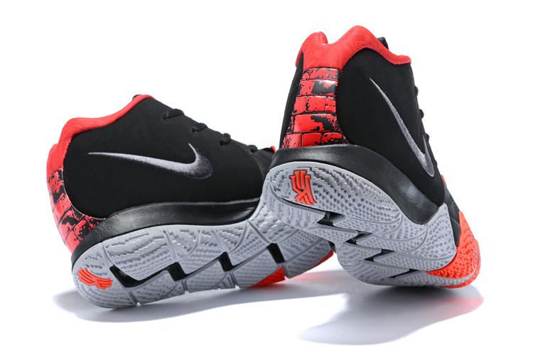 wholesale dealer fed7e 449af Nike Kyrie 4 Black White Red Men's Basketball Shoes NIKE-ST001615