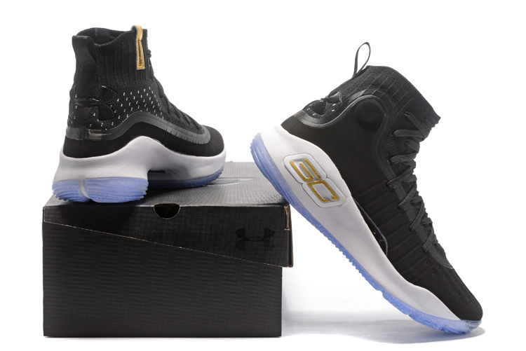 984b97b788fb Under Armour Curry 4 Black White NBA Finals Men s Basketball Shoes ...