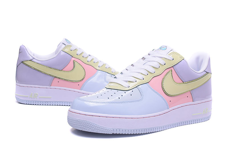 reputable site 2ee0d 9af11 Nike Air Force 1 Low Easter 2017 Retro Titanium Lime Ice Storm Pink Men s  Women s Running
