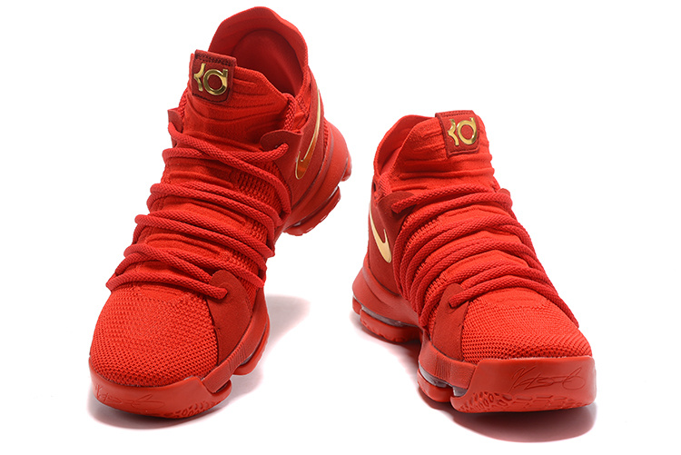 low priced 7edbe 97a74 Nike KD 10 X Kevin Durant University Red Gold Men s Basketball Shoes