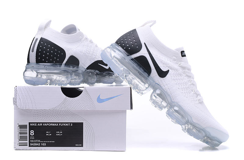 online store 8e4b7 e8360 Nike Vapormax Flyknit 2. 0 Reverse Orca White Black Women's Men's Running  Shoes 942842-103