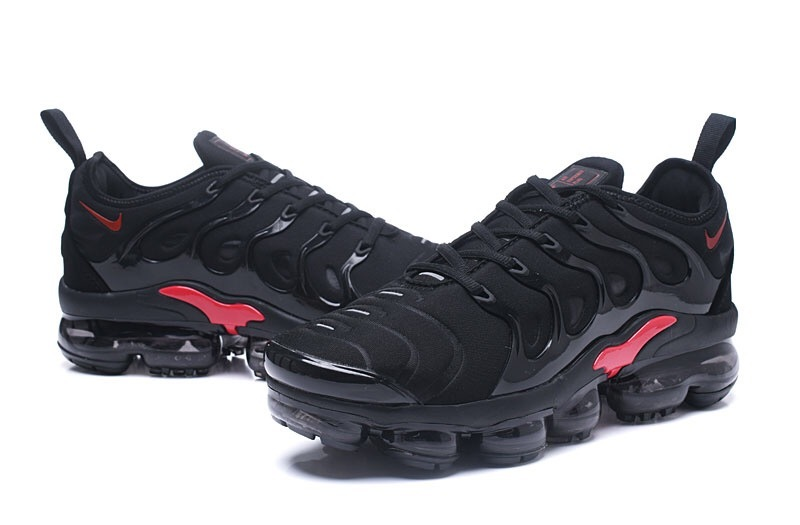 save off 729a7 b7289 Nike Air VaporMax Plus TN Black Red Men's Running Shoes NIKE-ST000968