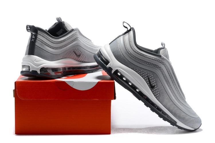 Nike Air Max 97 UL '17 Wolf Grey Dark Grey White Men's Running Shoes 918356 007