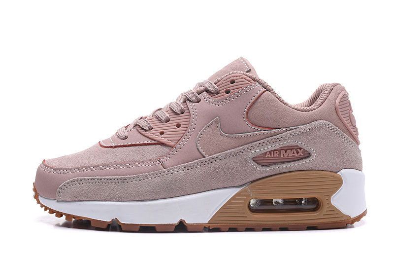 Nike Air Max 90 SE Particle Pink Gum Light Brown White Women s Running  Shoes Sneakers e7765559d