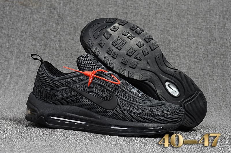 Off White X Nike Air Max 97 Kpu Triple Grey Black Men's Running Shoes NIKE ST000739