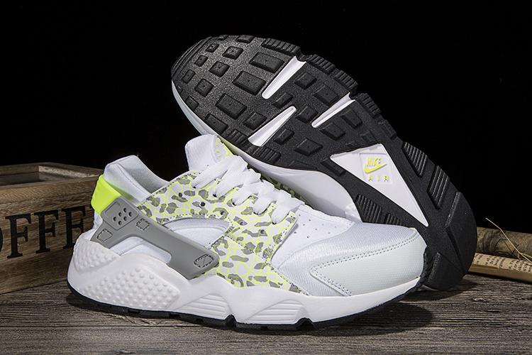 9c0e9c735d88 Nike Air Huarache Run Green White Leopard Men s Women s Casual Shoes ...