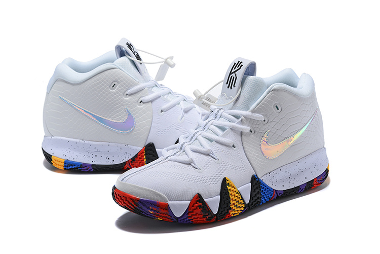 6133772f7d9d Nike Kyrie 4 The Moment White Multi-Color Men s Basketball Shoes ...