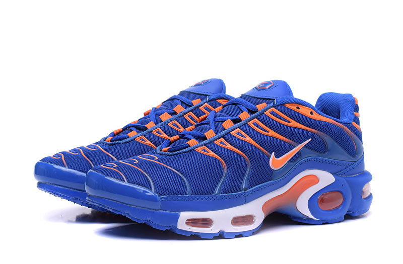 c12bd0b299432e Nike Air Max Plus TXT Royal Blue Orange White Men s Running Shoes ...