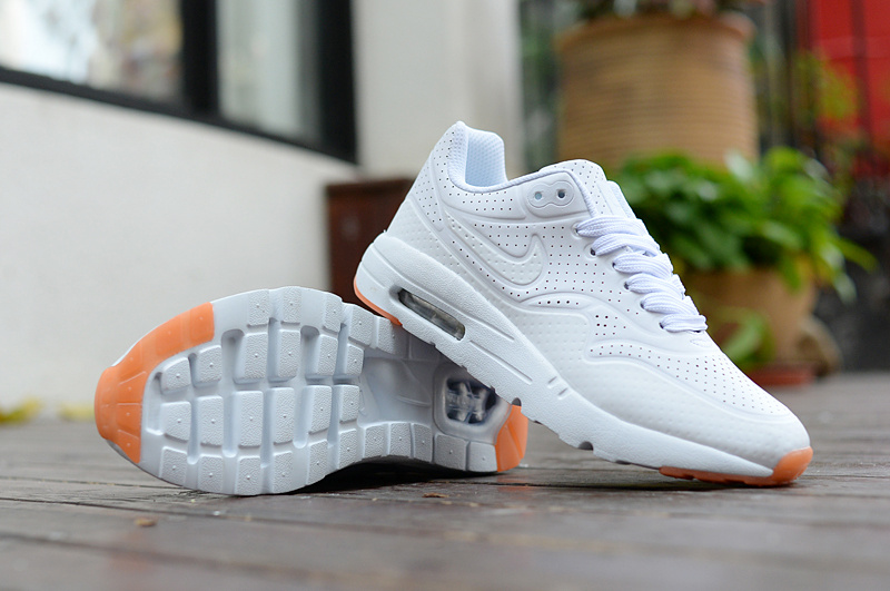 size 40 d89fe a1f6d Nike Air Max 1 Triple White Gum Women s Men s Running Shoes Sneakers