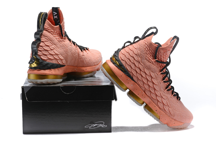 2354ad8ad48c ... low cost nike lebron 15 all star edition 2018 rust pink black black  mens basketball shoes