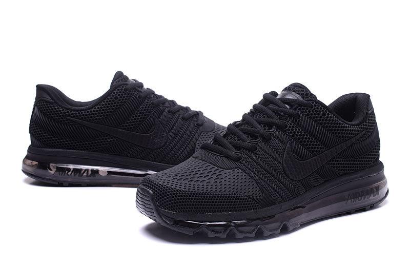 c28cfeda3c37bf Nike Air Max 2017 KPU Triple Black Men s Running Shoes 849560-701 ...