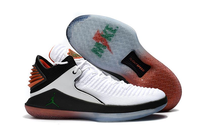 online store da31f 8c764 Nike Gatorade Air Jordan 32 Low Be Like Mike White Pine Green Black Men's  Basketball Shoes AA1256--100
