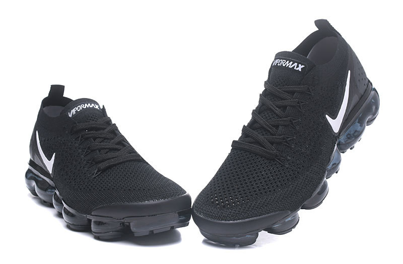 finest selection 9987d 38fdc Nike Vapormax Flyknit 2. 0 Black White Women's Men's Running Shoes  942842-001