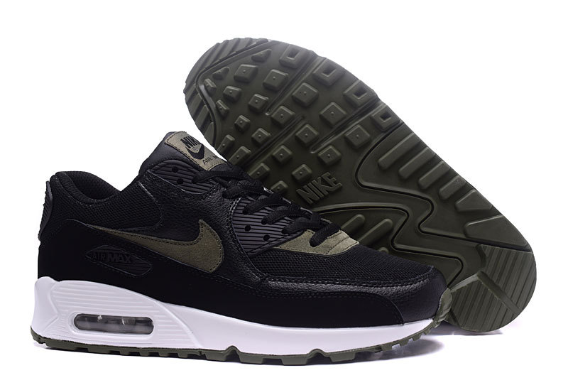new product 9b68a ecd5b Nike Air Max 90 Black Olive Green Men's Women's Running Shoes Sneakers  NIKE-ST000181