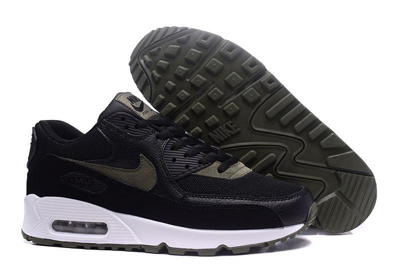 quality design 7bab4 11b6b Nike Air Max 90 Essential Black White Green Men s Women s Running Shoes  Sneakers