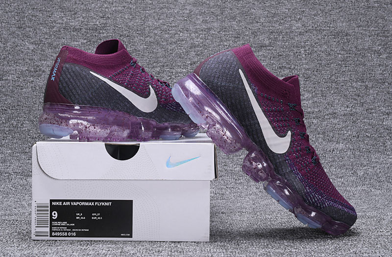super popular 3495c 87fa8 Nike Air VaporMax Flyknit Purple White Men's Running Shoes 849558-016