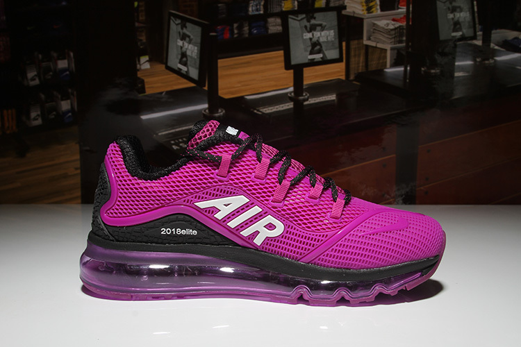 Nike Air Max 2018 Elite KPU Black Purple White Women's Running Shoes
