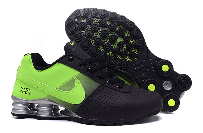 8743246df6c Nike Shox Deliver Black Green NZ Men s Running Shoes NIKE-ST000356 ...