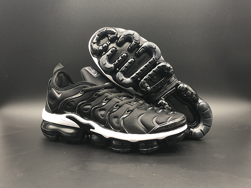outlet store 09a9a d6e32 Nike Air Vapormax Plus TN Black White Men's Running Shoes NIKE-ST000978