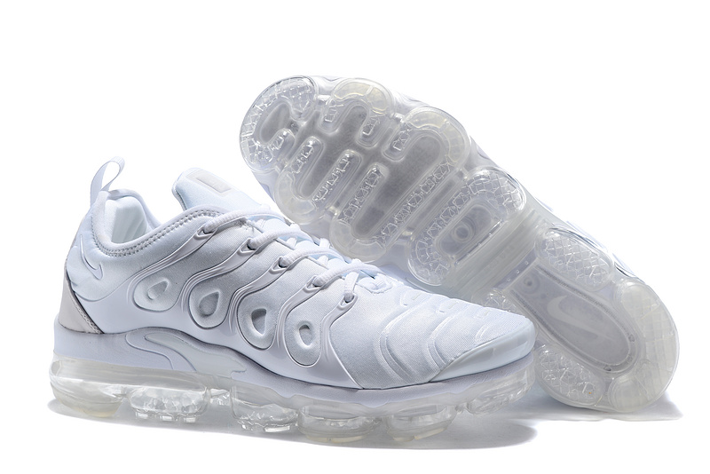 buy online 74e9c 11dc9 Nike Air Max Plus TN 2018 Triple White Men's Running Shoes NIKE-ST001953