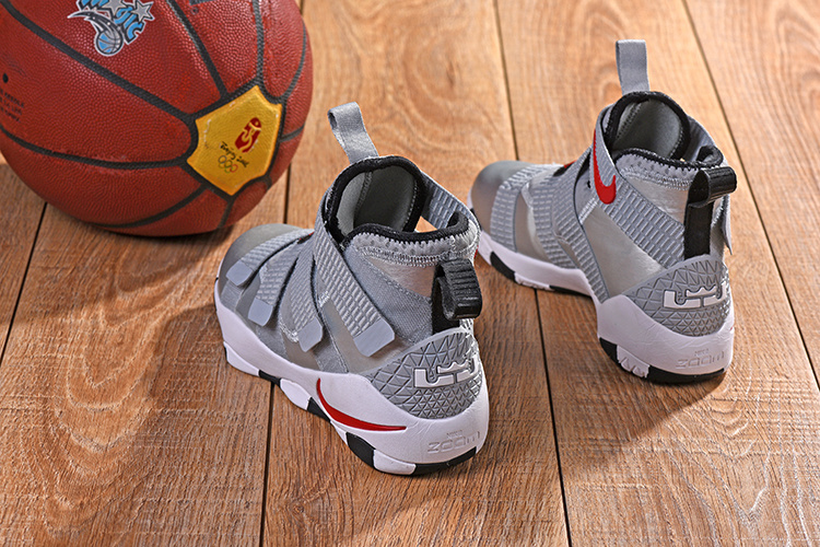 92985de6351d2 Nike LeBron Soldier 11 XI Silver Bullet Metallic Silver Varsity Red White  Black Men s Basketball Shoes