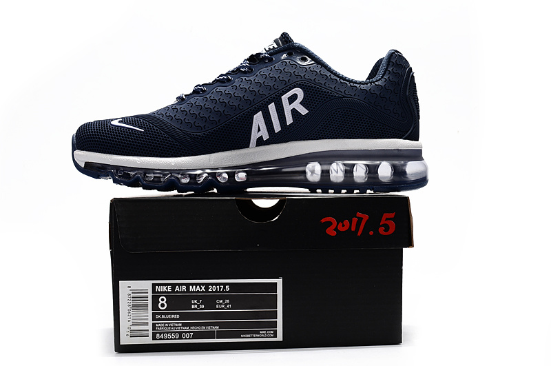 official photos 6904f 5bd08 Nike Air Max 2017. 5 KPU Navy Blue White Men's Running Shoes NIKE-ST000810