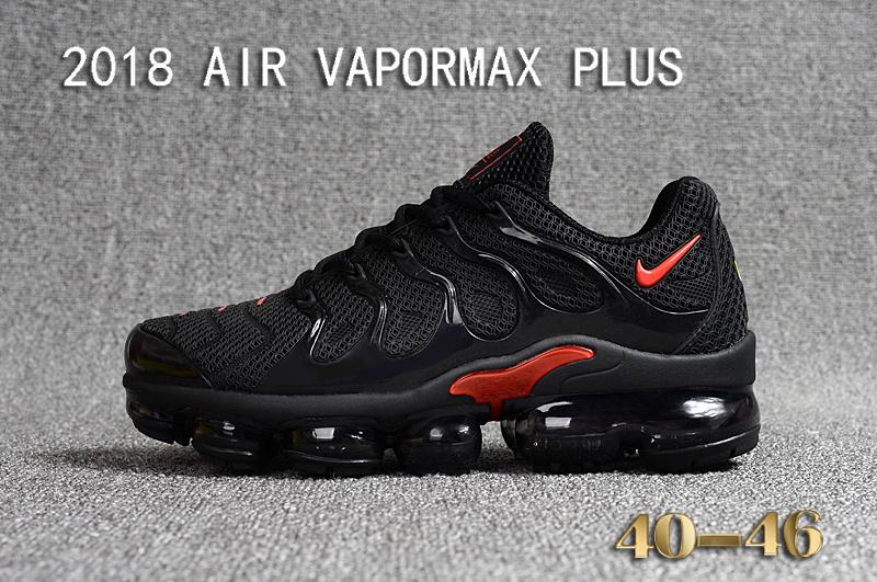 cheaper e5e33 dd67f Nike Air Vapormax Plus KPU TN + 2018 Black Red Men's Running Shoes  NIKE-ST000963