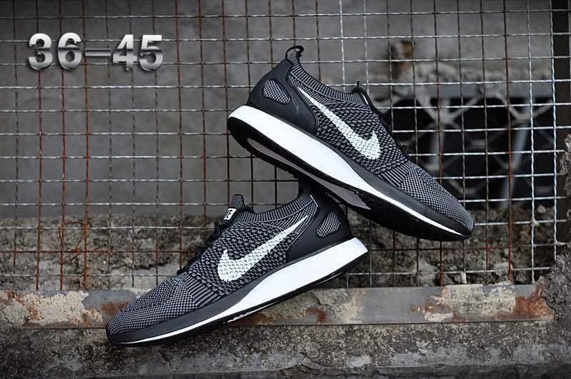 6de6b979964de Nike Air Zoom Mariah Flyknit Racer Black Grey White Women s Men s Running  Shoes
