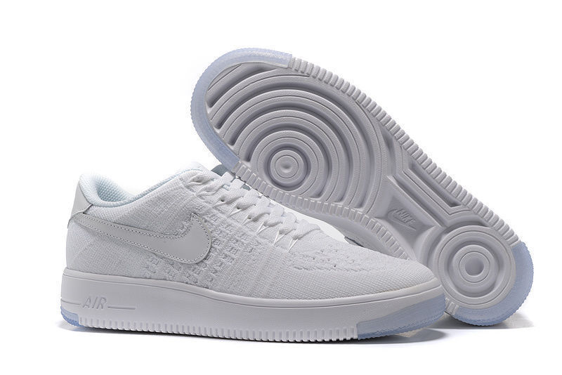 brand new 077af dd2b5 Nike Air Force 1 Ultra Flyknit Low White Women's Men's Casual Shoes  Sneakers 817420-100