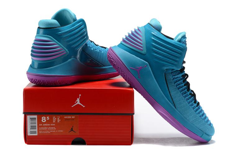 7bffafc7723 Nike Air Jordan XXXII AJ32 Charlotte Hornets PE Promo Blue Violet ...