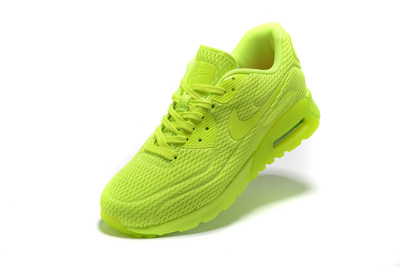 e58dac2c5549 Nike Air Max 90 Ultra Breathe Ghost Green Electric Green Men s Women s  Running Shoes Sneakers
