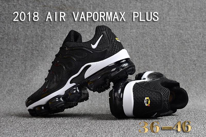 separation shoes 3ffa2 a06f0 Nike Air Vapormax Plus KPU TN + 2018 Black White Women's Men's Running  Shoes NIKE-ST000952