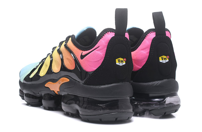 a19979dfe31 Nike Air Max Plus TN 2018 Spectrum Black Yellow Blue Men s Running Shoes