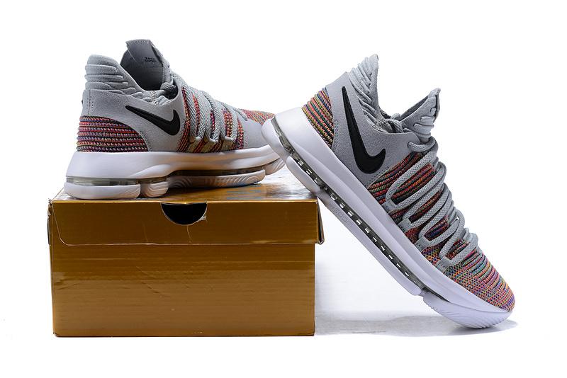 Nike Zoom KD 10 LMTD EP Wolf Grey Multi-Color Men s Basketball Shoes ... 99f3de6b3