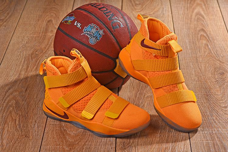 617e9a210fa Nike LeBron Soldier 11 XI Orange Men s Basketball Shoes NIKE ...