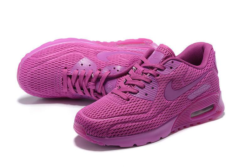 Nike Air Max 90 Ultra Breathe Hyper Violet Viola Women's Running Shoes Sneakers 725061 500