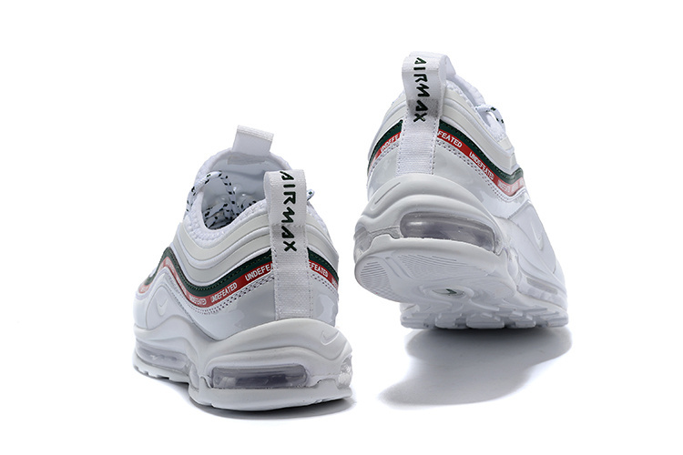 874b93fddfc9 Nike Air Max 97 Ultra 17 Se Undefeated White Gorge Green Speed Red Men s  Running Shoes