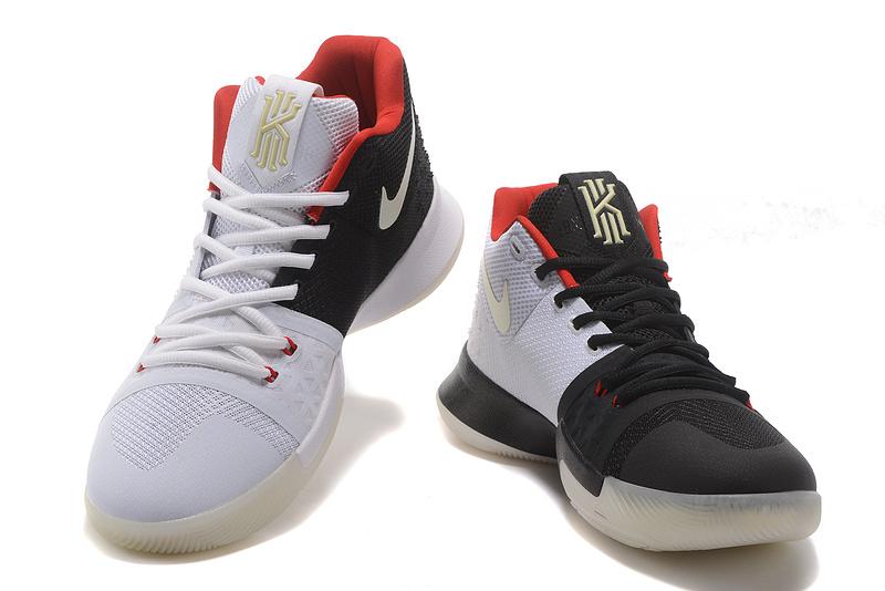premium selection 7089e 606f8 Nike Kyrie Irving 3 Black White Mandarin Duck Glow In The Dark Men's  Basketball Shoes NIKE-ST001509